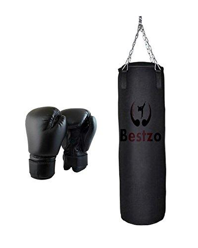 最安値級価格 bestzo – MMA Punching Bag – B01LYA2AXK 円柱形状Pound/床Striking – inch 合成leather-black-unfilled 47 inch Synthetic Leather Black B01LYA2AXK, キタカミシ:4b1d5d6b --- a0267596.xsph.ru