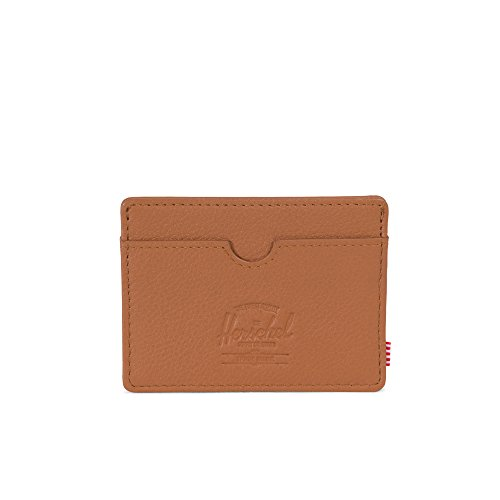 Herschel Supply Co. Men's Charlie Wallet, Tan Pebbled Leather Rfid, One Size ()