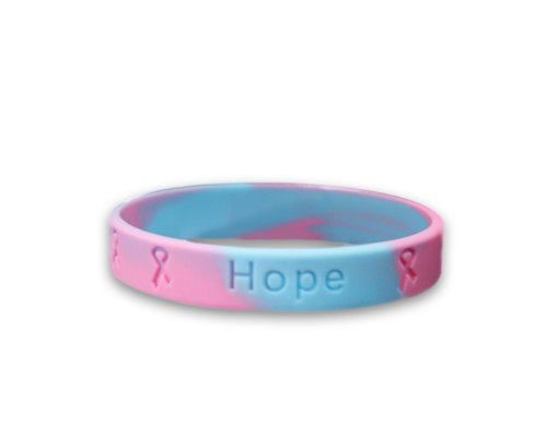 Fundraising For A Cause Pregnancy Loss Awareness, Pink & Blue Silicone Bracelet (1 Bracelet - Retail)