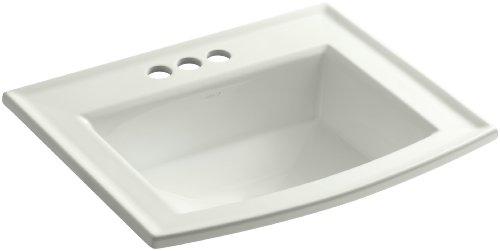 - Kohler K-2356-4-NY Vitreous china Drop-In Rectangular Bathroom Sink, 25.5 x 21.5 x 10.125 inches, Dune