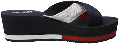 Jeans 406 Navy Sandal Beach Bleu Tommy Femme Mid Tongs Sporty Tommy UIzqxvdU