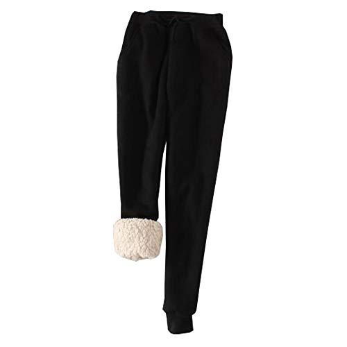 Lined Pants Trousers - YOUMU Women Winter Sweatpants Fleece Jogger Pants Casual Lined Harem Trouser Drawstring