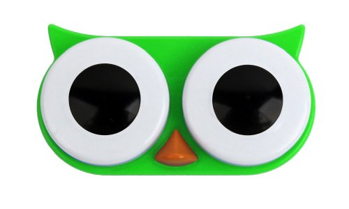 Kikkerland Retro Owl Contact Lens Case-Green by Kikkerland