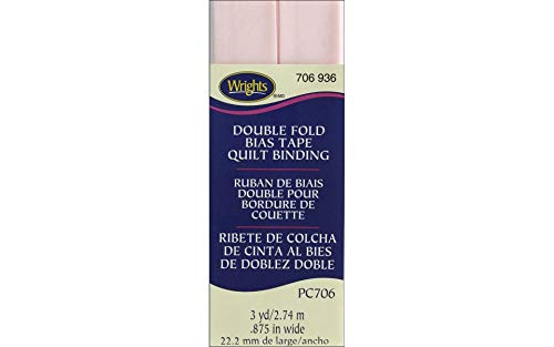 """Wrights Rosewater Double Fold Quilt Binding 7/8"""" X3yd"""