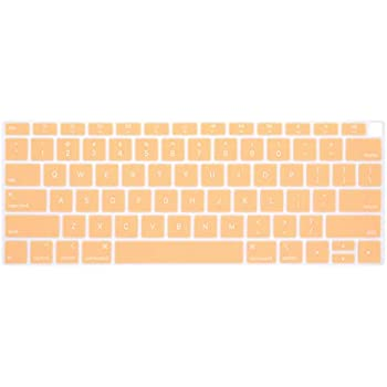 HRH Silicone Keyboard Cover Skin for MacBook Newest Air 13 Inch 2018 Release A1932 with Retina Display and Touch ID USA Layout,Jishi Yellow