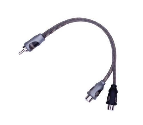 Portable, Rockford Fosgate Twisted Pair Y Adapter 1 Male to 2 Female Consumer Electronic Gadget Shop by Portable4All