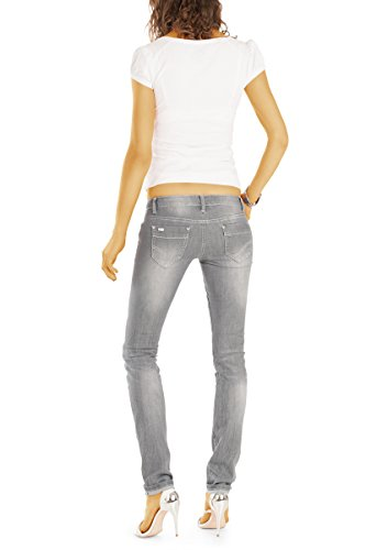 j50k basse jean Gris femme jean taille pantalon fit en Bestyledberlin slim FgTz8WW