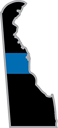 Thin Blue Line Delaware State 8 Inch Decal