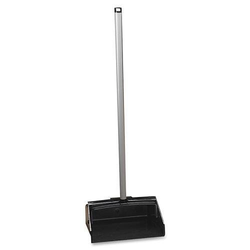 Continental 912BK, Plastic Lobby Dust Pan with Vinyl Coated Steel Handle, 10-3/4'' Length x 12'' Width x 36-3/4'' Height, Black (Case of 6)