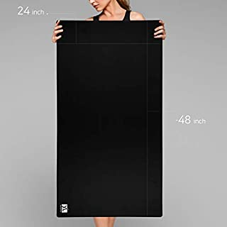 3XL Huge Mouse Pads Oversized (48''x24'') - Extra Large Gaming XXXL Mousepad for Full Desk - Super Thick Nonslip Rubber Base and Waterproof Desktop Keyboard Extended Mouse Mat (Black, XXX-Large)