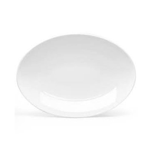 Franklin Platter - CAC China FR-14 European-White Franklin Oval Platter 12-1/2 Inch, 1 Dozen