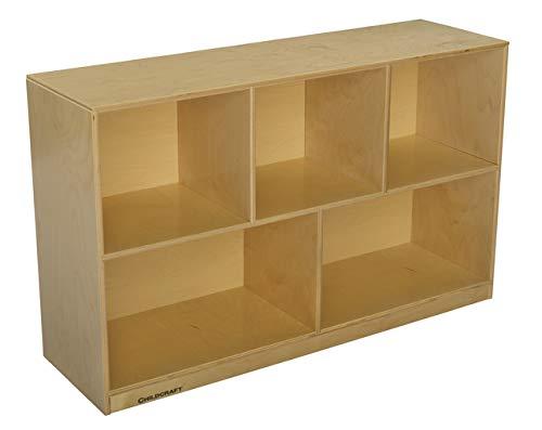 Childcraft 202815 Mobile Toy and Block Shelf, Birch Veneer Panel, 4-Coat UV Acrylic, 30'' x 47-3/4'' x 14-1/4'', Natural Wood Tone