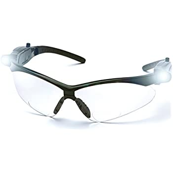 5fe522bbd8 Pyramex SB6310STPLEDR15 PMXTREME LED Readers Safety Glasses with LED  Lights