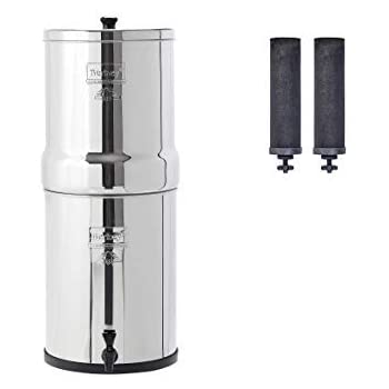 Imperial Berkey Gravity-Fed Water Filter with 2 Black Berkey Purification Elements