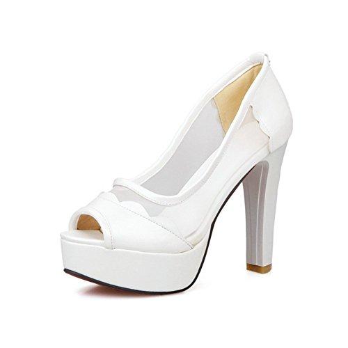 Adee Ladies dance-ballroom high-heels Poliuretano Sandalias Blanco - blanco