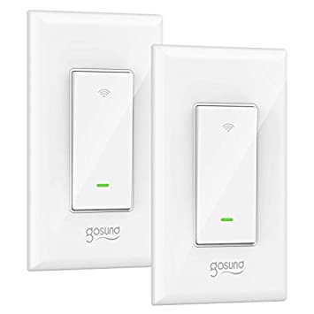 Smart Light Switch, Gosund 15A Smart Wifi Light Switch with Remote Control  and Timer, Works with Alexa, Google home and IFTTT, No Hub required, Easy