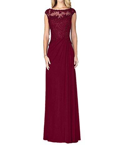 Burgundy Charmant Blau Lang Bodenlang Brautmutterkleider Abendkleider Damen Spitze Abiballkleider Partykleider qSqx6ATwz