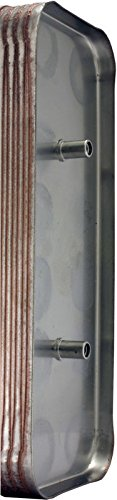 "Duda Energy HX1230:M34 B3-12A 30 Plate Stainless Steel Heat Exchanger with 3/4"" Male NPT Ports Copper Brazed, 2.9"" Height, 2.9"" Width, 7.5"" Length"
