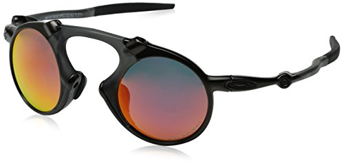 Oakley Men's Madman OO6019-04 Polarized Iridium Round Sunglasses, Dark Carbon, 42 - Carbon Sunglasses Oakley