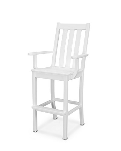 POLYWOOD Vineyard Bar Arm Chair (White) Review