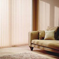 Complete made to Measure Vertical louvre blind within 1920mm wide x 2500mm drop blindcorner