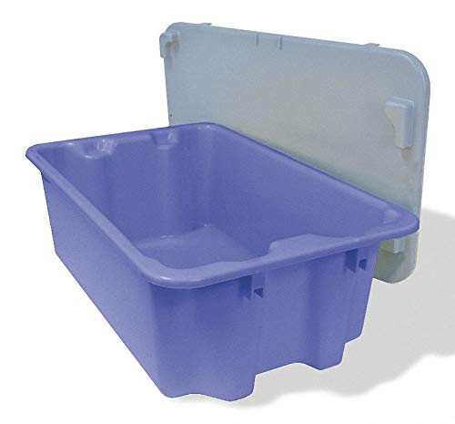 Stack and Nest Container, Blue, 7-7/8