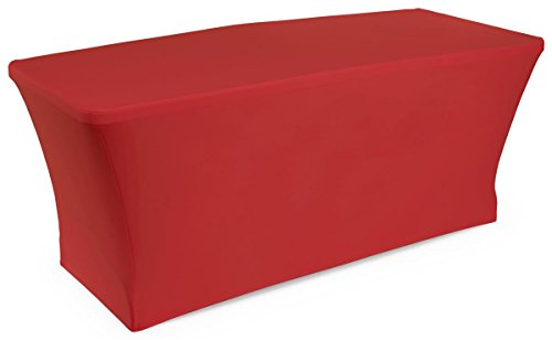 Displays2go Polyester/Spandex Blend Fabric Stretch Table ...