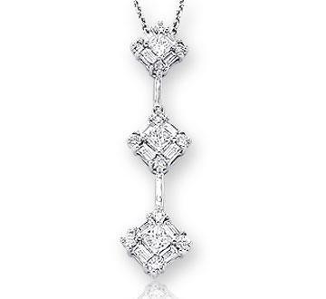 Amazon diamond 14k 3 stone past present future drop pendant diamond 14k 3 stone past present future drop pendant necklace aloadofball Gallery
