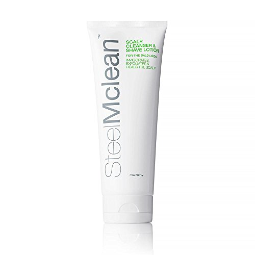 SteelMclean Scalp Cleanser & Shave Lotion - For the Bald Look, 7 fl oz by SteelMclean