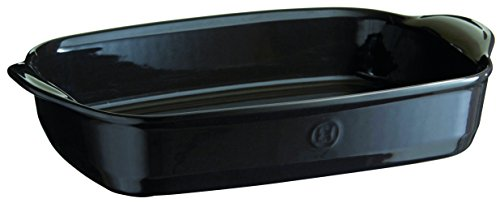 Emile Henry 799654 France Ovenware Ultime Rectangular Baking Dish, 16.5 x 10.6, Charcoal by Emile Henry