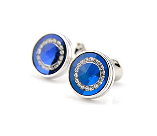 Men's Display nbsp;storage With Links Shape Version French Gift Business nbsp;shirt nbsp;crystal Accessories Fashion Cuff Wedding nbsp;cufflinks For Upgraded Blue Personalised Box Round Party Mscoreray nbsp;2018 dxYqXd