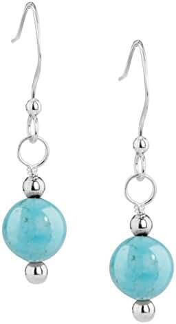 American West Sterling Silver Blue Kingman Turquoise Earrings