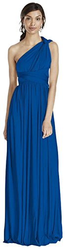 David's Bridal Versa Convertible Long Jersey Bridesmaid Dress Style W10502, Horizon, 2X