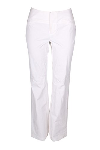 INC International Concepts Women's Curvy-Fit Flare-Leg Trousers (12, Bright White)