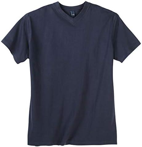 Tallas Grandes Camiseta Azul Oscuro Cuello V DAVES: Amazon.es: Ropa y accesorios