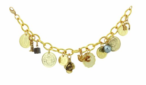 American Coin Treasures Gold-Layered Foreign Coins Charm Coin Bracelet Coin (Foreign Treasures)