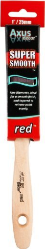 Axus D¨¦cor 1-inch Super Smooth Paint Brush - Red by Axus D¨¦cor
