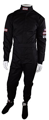 RJS RACING SFI 3-2A/1 NEW 1 PIECE RACING FIRE SUIT ADULT XLARGE BLACK ()