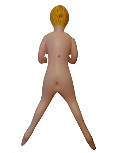 Natural Skin Color Inflatable Love Doll, Blond Hair for Party Night Fun at Bachelor Parties, Stag Night, Fraternity Initiation Festivities