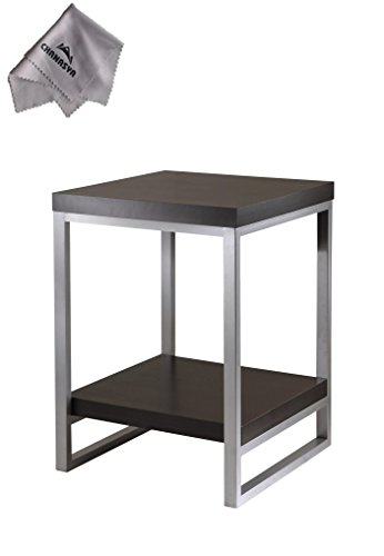 Jared End Table, Enamel Steel TubeWith Chanasya Polish Cloth