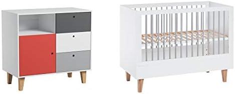 Cuna 60 x 120 y cómoda cambiador Vox Concept – rojo: Amazon.es: Bebé