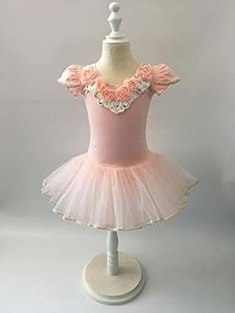 Cuts & Fits Peach Neck Lace Ballerina Dress