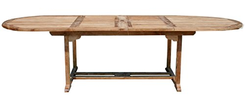 CHIC TEAK Teak Elzas Oval Double Extension Table ()
