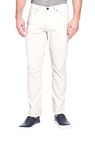 paperdenim&cloth Mens Designer 5 Pocket Slim Stretch Chino Twill Pants with Cell Pocket - 32/32 - New Mens Southern Thread