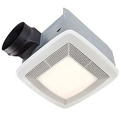 Exhaust Fan Light Combo - Broan QTXE110FLT Fluorescent Light Ultra Silent Bath Fan and Light, 110 CFM 42 Watt