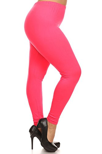 Solid Leggings (NEONPINK-SXL128)