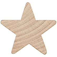 "Woodpeckers 1-1/2"" Wood Star, Natural Unfinished Wood Star Cutout Shape (1-1/2 inch) (Bag of 100)"