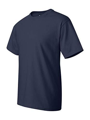 Hanes Men's Beefy-T Crewneck Short-Sleeve T-Shirt, Navy - LT (T T-shirts Hanes Blank Beefy)