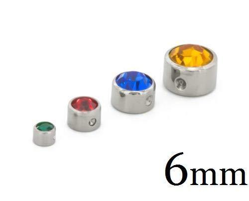 Painful Pleasures Titanium Jeweled Replacement Bead Ring 6mm - Dark Purple ()