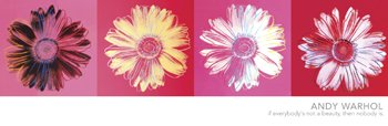 Andy Warhol Daisies Floral Flower Quad Fine Pop Art Poster Print 12 By 36